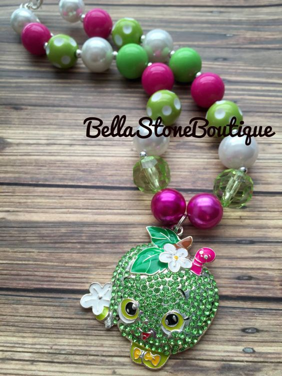Shopkins. Apple Berry mini chunky by BellaStoneBoutique on Etsy