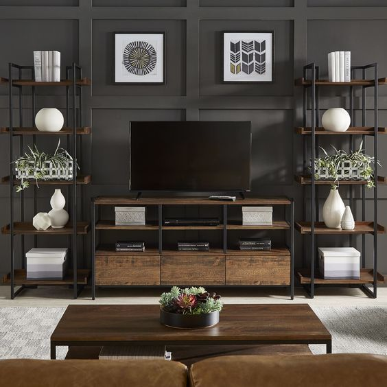 The Perfect Tv Wall Will Surprise The Guests Page 39 Of 56 Yeslime Living Room Entertainment Center Living Room Entertainment Home Entertainment Centers