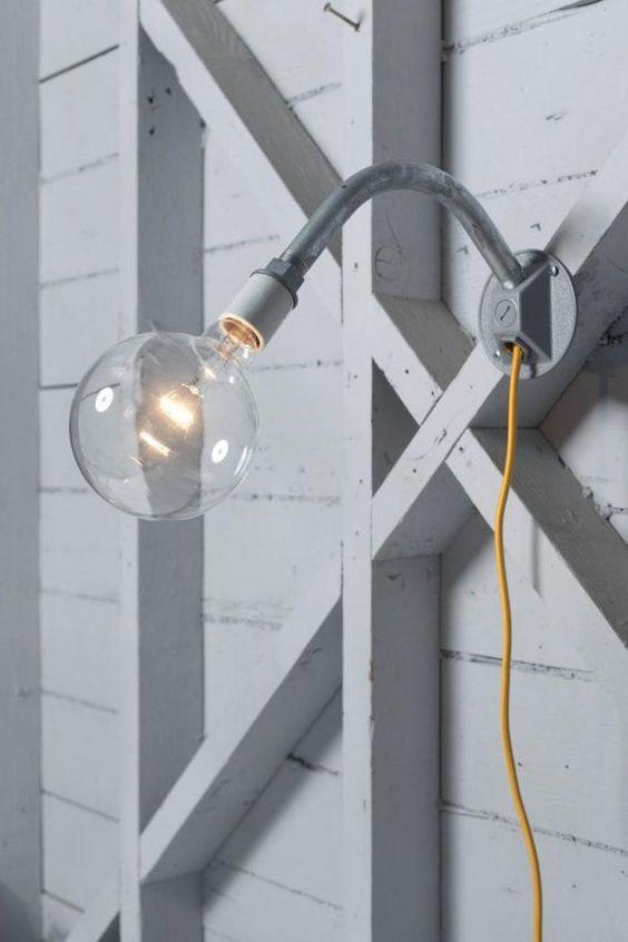 appliques extérieures, jolie lampe industrielle avec ampoule