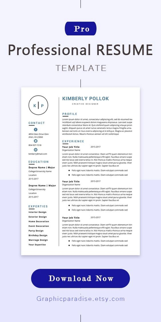 Resume Template Cv Template Professional And Creative Resume Design Cover Letter For Ms W Resume Template Professional Resume Template Resume Template Word
