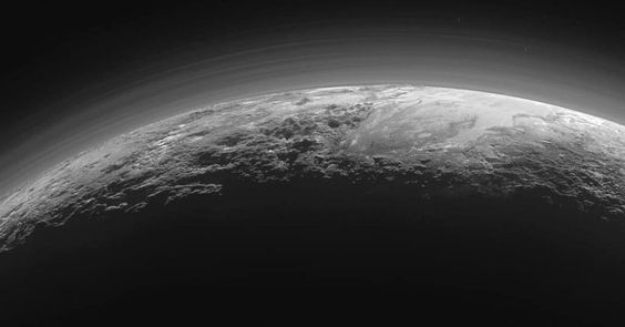 Plutos Majestic Mountains Frozen Plains and Foggy Hazes: Just 15 minutes after its closest approach to Pluto on J https://t.co/gNwVPJCors