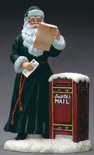 Dear santa pipka claus resin figurine issued in