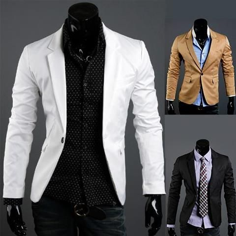 Details about Mens Casual Slim Fit Blazers Coats Suit Top Jackets ...
