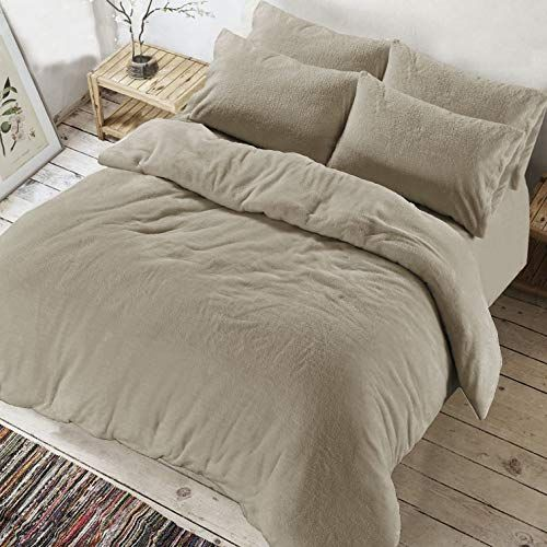 Ar Textile Luxury Soft Teddy Bear Fleece Duvet Cover With Pillowcases Thermal Warm Fleece Bedding Set In Single Cozy Bedding Sets Duvet Cover Sets Uk Mattress