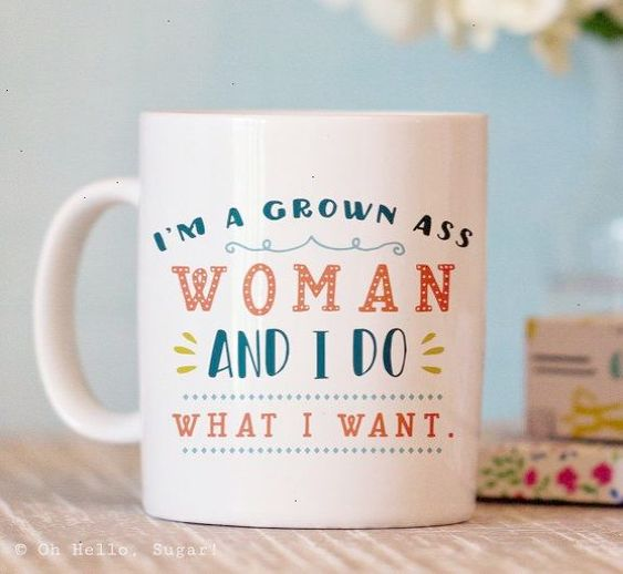 Funny Coffee Mug Grown Woman Mug Coffee Mug by OhHelloSugarGifts