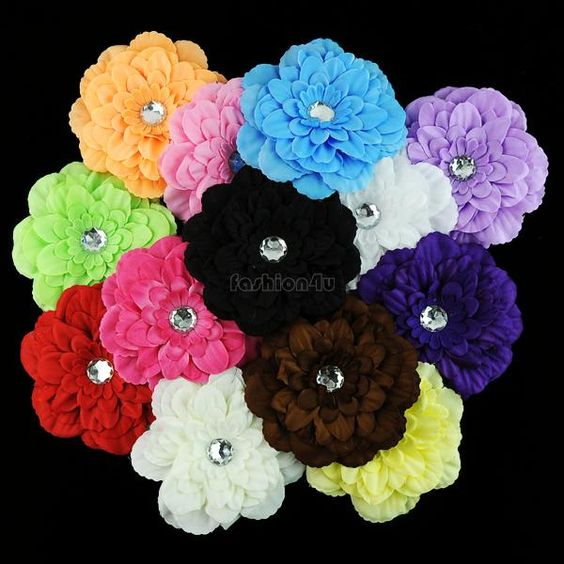 $11.74 (Buy here: http://appdeal.ru/8xuv ) 12 Pcs/lot Fashionable Peony Flower Girls Baby Clip For Hair Headband 2014 hot sale EX0049 YCDC for just $11.74