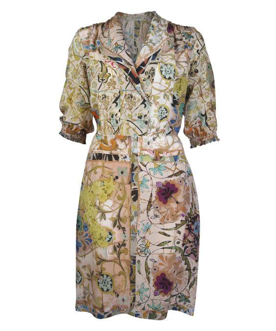 Floral Print Silk Shirt Dress, Etro