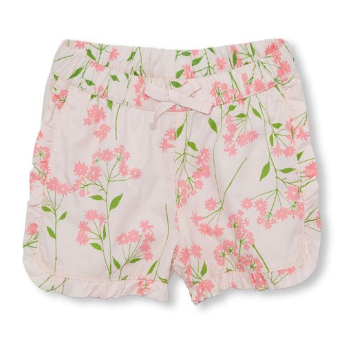 The Childrens Place Girls Ruffle Shorts