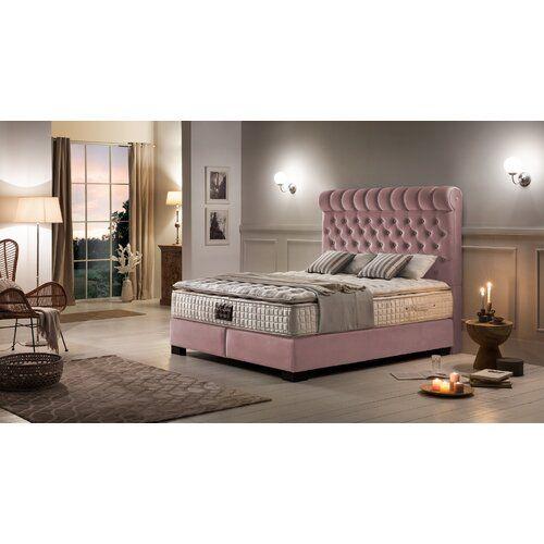 Canora Grey Boxspringbett Kenna Grey Home Decor Furniture