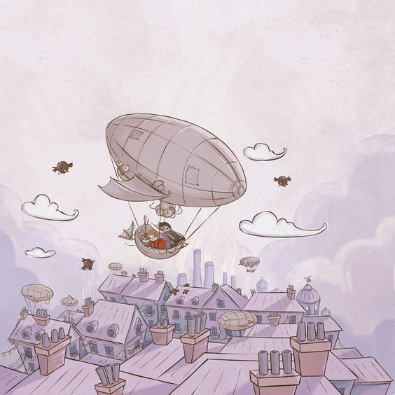 A boy and his dirigible