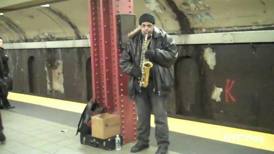 Saxophone Player In New York City Subway Station - Subway Musician ...