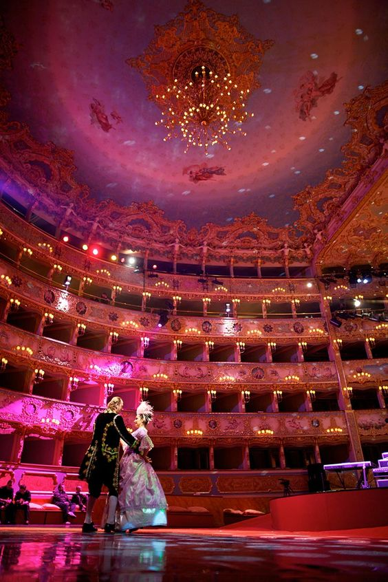"""Venice: An Evening at La Fenice Venice's opulent opera house is appropriately named """"The Phoenix"""": it has risen more than once from the flames of a calamitous fire—most recently in 1996. The house was founded in the 18th century, and classic operas like """"'Madama Butterfly"""" and """"La Traviata"""" are still a key part of the repertoire."""