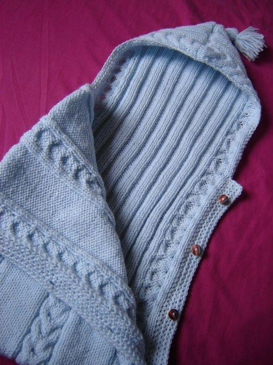 Tricot et crochet b b and motif gratuit on pinterest - Patron nid d ange bebe gratuit ...