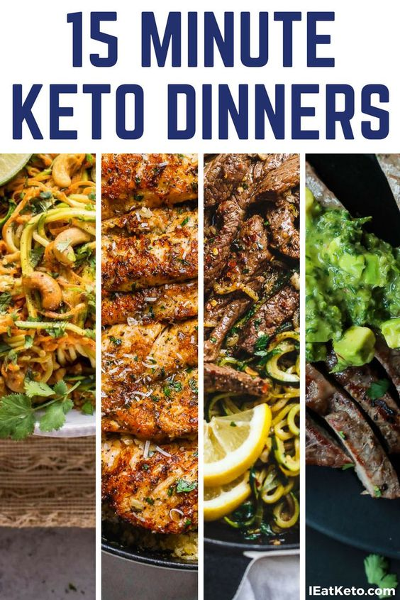 Want Quick Keto Recipes? Try These Great 15 Minute Keto Dinners