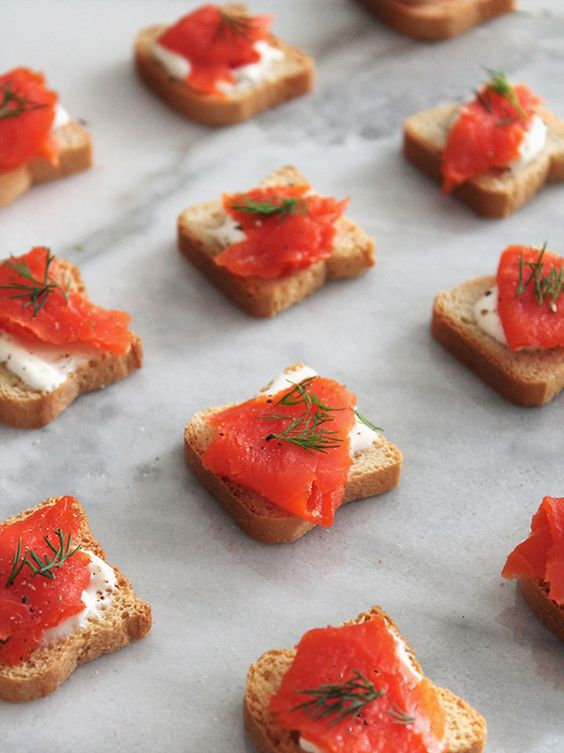 Smoked salmon, Salmon and Wedding cocktail hour on Pinterest