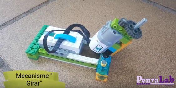 Investiguem mecanismes amb Lego per a un dispensador de llaminadures