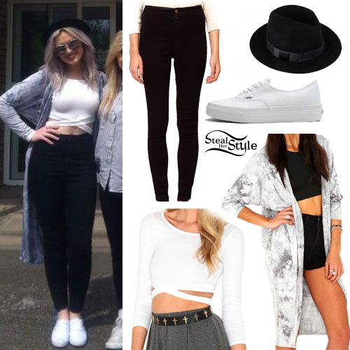 Perrie edwards Her style and White vans on Pinterest