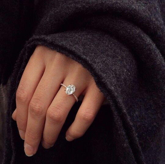 Dream ring: 2 carat oval set in a rose gold, thin, diamond band. Lovely, delicate & perfect. http://www.pinterest.com/pin/531987774714560495/