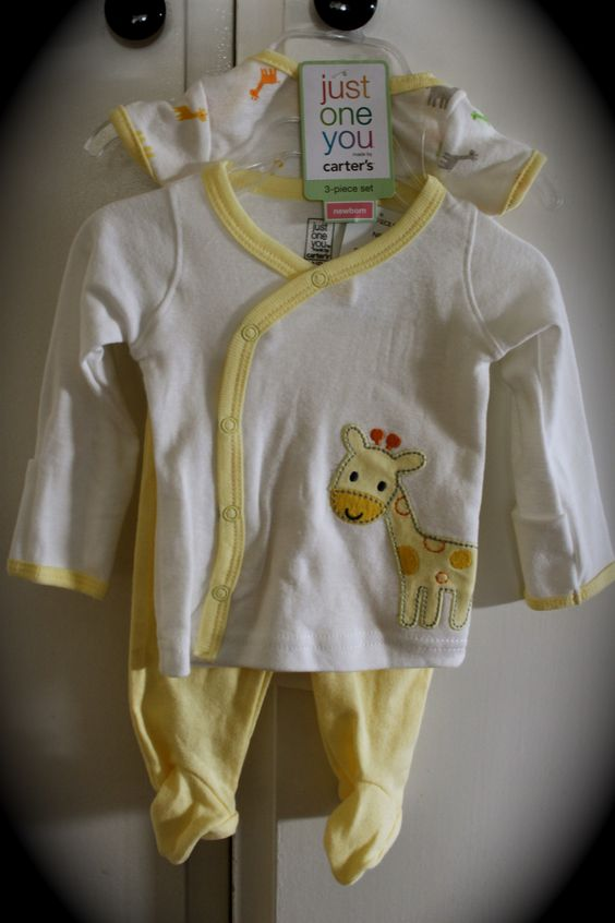 newborn outfit I bought for the baby.