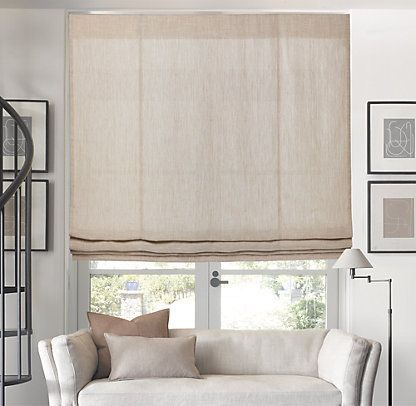 Flats catalog and products on pinterest for Restoration hardware window shades