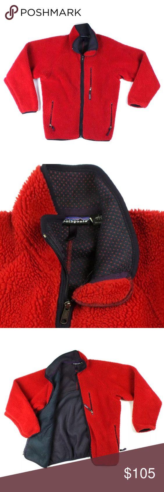 PATAGONIA Full Zip Red Fleece Jacket L | Coats, Patagonia jacket ...