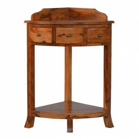 Artisan Corner Stand Table Sheesham Wood Wash Stand Sheesham