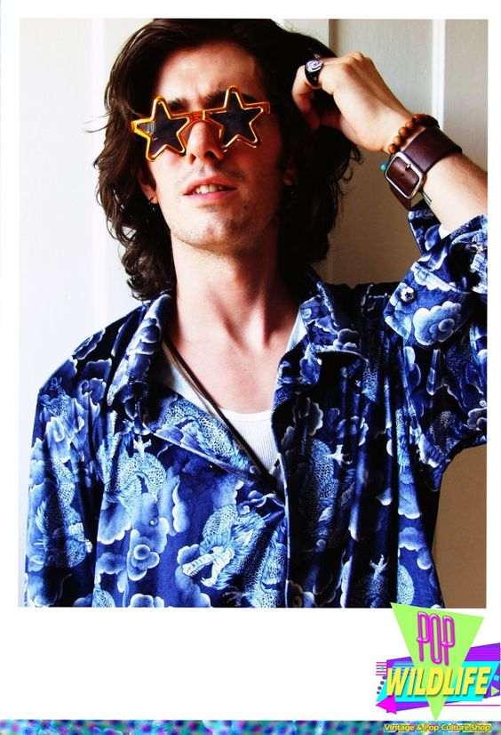 Blue Dragon Print True Vintage Fashion Long Sleeve by POPWILDLIFE, $50.00