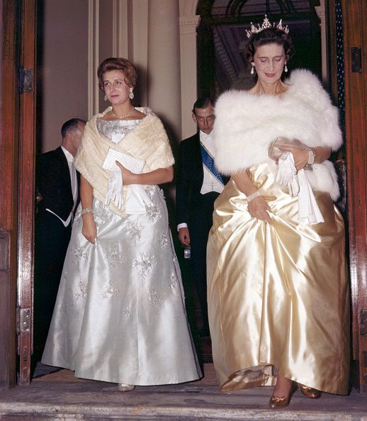 Princess Alexandra with Marina The Duchess of Kent leaving the Nepalese Embassy in London on 18th October 1960