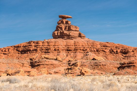 "Photo Kubitza posted a photo:  For one reason or another this formation has been christened ""Mexican Hat"". It is precariously perched on top of its base, shaped by wind and water. Hope it remains there for a long time."