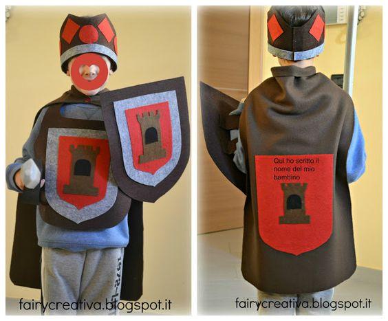 Fairy Creativa: Tutorial vestito di carnevale da cavaliere fai da te