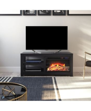 Ameriwood Home Ira Electric Fireplace Tv Stand For Tvs Up To 55 Inches Reviews Furniture Macy S Electric