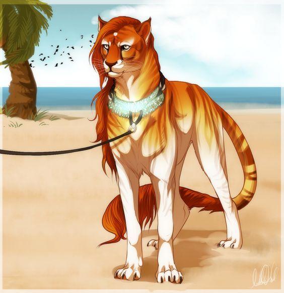 Pin By Laryssa Ribeiro On Art Big Cats Art Fantasy Creatures Cat Art