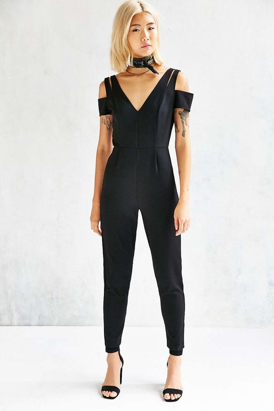 Kimchi Blue Strappy Sleeve Jumpsuit - Urban Outfitters