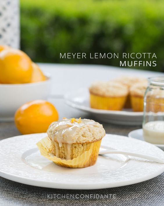 Meyer Lemon Ricotta Muffins. Cut back on the buttermilk and butter and ...