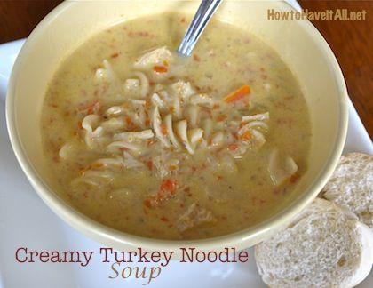 Creamy Turkey Noodle Soup Recipe