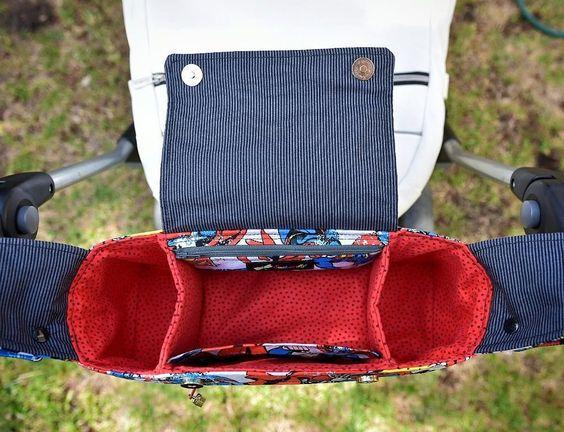 (9) Name: 'Sewing : Pram Caddy/ Stroller Organiser