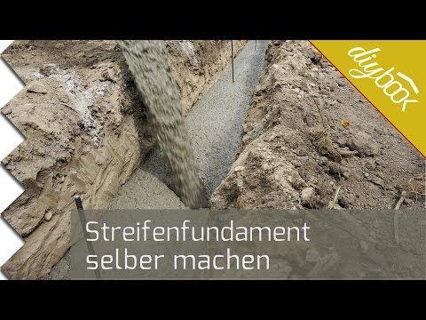 Fundament für die Gartenmauer - Streifenfundament selber machen - Anleitung @ diybook.at