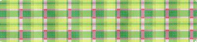 "Cuff, belt, dog collar or ""Eliza B"" flip-flops-Madras in Greens & Pinks  1 1/2 x 7,18 mesh"