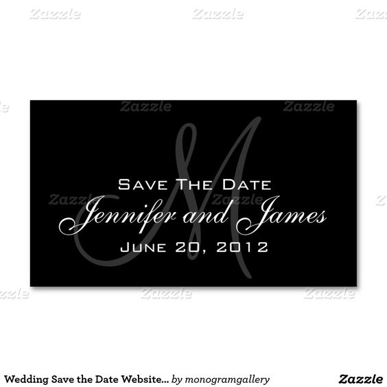 Wedding Save the Date Website Card Double-Sided Standard Business ...