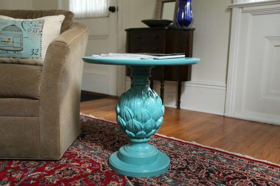 Pineapple looking side table // housetweaking