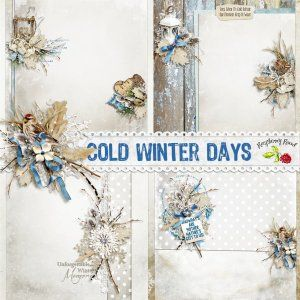 Cold Winter Days Stacked Paper Set