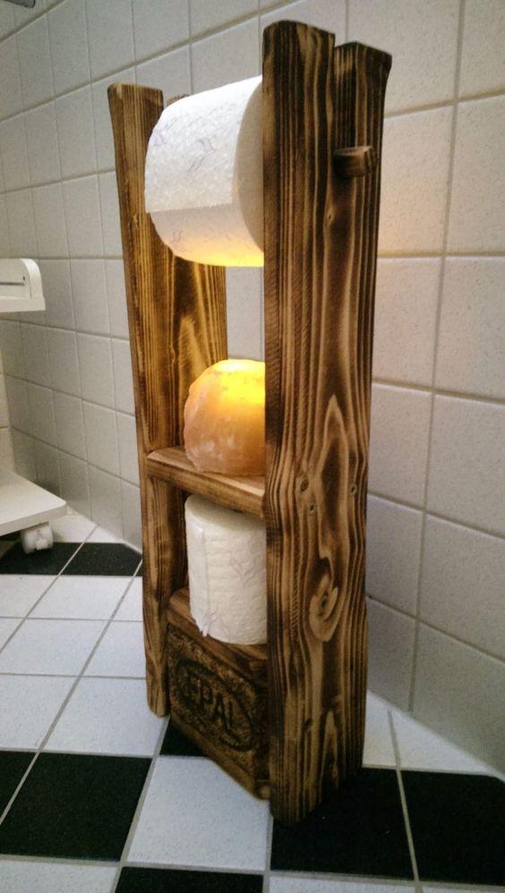 Toilettenpapierhalter Palettenmöbel Geschenk Idee Loftstyle Shabby Vintage   eBay