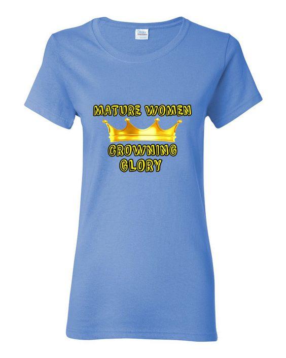 Women's short sleeve t-shirt mature women gold