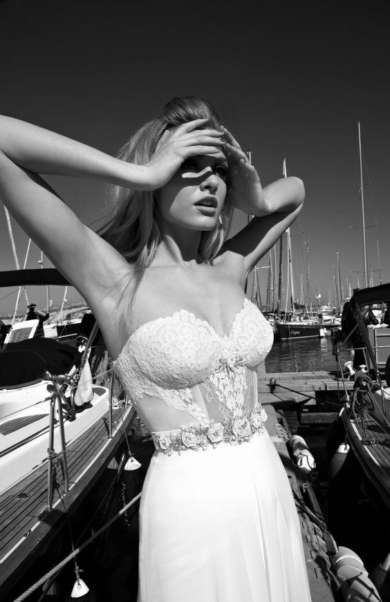 Bellísimos y muy atractivos son los vestidos de novia de Galia Lahav Haute Couture.