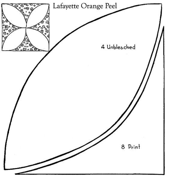 Lafayette Orange Peel Patchwork Quilt Pattern Free