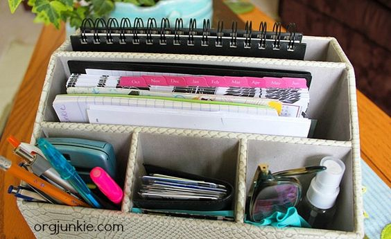 Organized Portable Home Office: