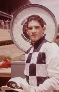 Manuel Ycaza (1938-), known as Manny, had a fine racing career lasting from 1957-1971 (and a comeback in 1983) with 10,561 mounts and 2,367 winners for a winning percentage of 22.4%. He was given the George Woolf Memorial Jockey Award in 1964, topping a career that saw him ride such fine horses as Sword Dancer, Dark Mirage, Hill Rise, Gamely, Bald Eagle, Silky Sullivan, Ack Ack, Tompion, Dr. Fager, Damascus, Quadrangle, Ridan, Lamb Chop and Fort Marcy. Manuel Ycaza was inducted into the Hall of Fame in 1977.