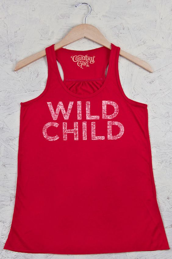 Juniors Country Girls™ Wild Child Distress Flowy Racerback Tank