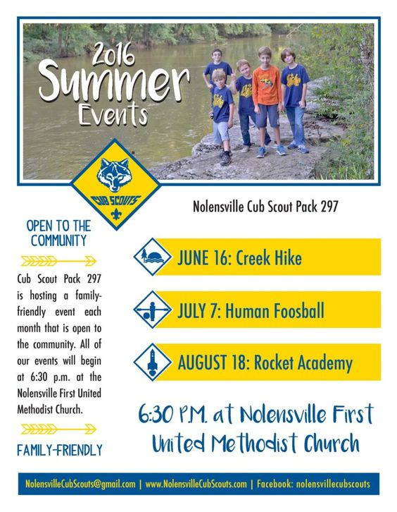 summertime activities for cub scouts