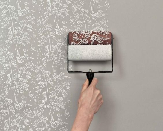 patterned paint roller kits